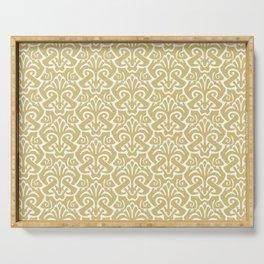 Art Nouveau Pattern Gold Serving Tray