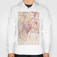 louis Hoodies featuring Saint Louis by MapMapMaps.Watercolors