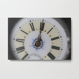 Portrait of an old watch face Metal Print