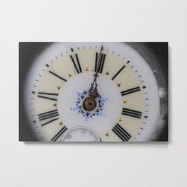 Portrait of midnight ,  vintage watch face Metal Print