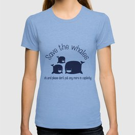 FUNNY Save The Whales Animal Rights Vegan shark T-shirt