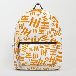 Hi! In orange tones #eclecticart Backpack