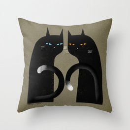 SIMPLE BLACK Throw Pillow