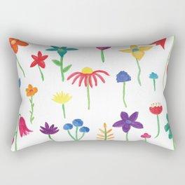 Fun Spring Flowers Rectangular Pillow