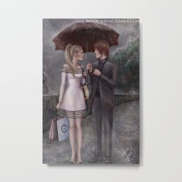ChloNath - Gentle Rain Metal Print