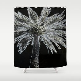 Etched Palm Shower Curtain