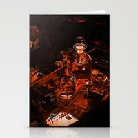 whiskey Stationery Cards featuring Whiskey by Esra Meral Demircan