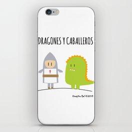 Dragones y Caballeros iPhone Skin