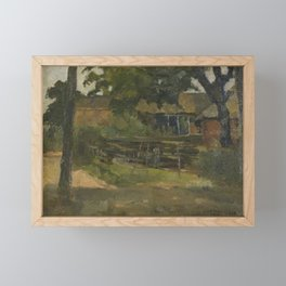 Piet Mondrian - Farmstead in Het Gooi, viewed between trees and over fence Framed Mini Art Print