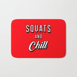 Squats And Chill Bath Mat