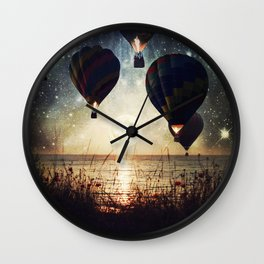 Lighting the night Wall Clock