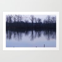 Somewhere Across The Water Art Print
