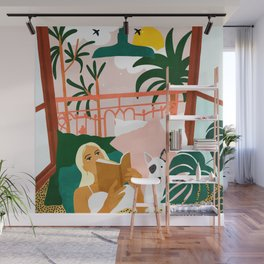 It doesn't matter where you're going, it's who you have beside you #painting #illustration Wall Mural