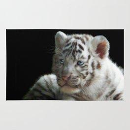 White Tiger Cub Rug