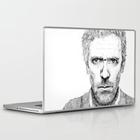 house md Laptop & iPad Skins featuring Hugh Laurie, House MD by Milicule