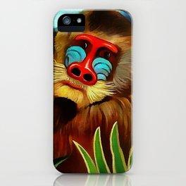 """Henri Rousseau """"Mandrill in the jungle"""" iPhone Case"""
