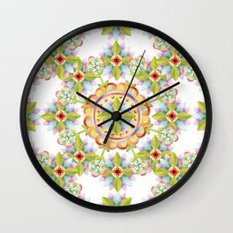 Starflower Blossoms Wall Clock