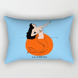 La Sirena Loteria - Mexican Bingo Card Rectangular Pillow