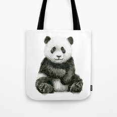 Panda Baby Watercolor Animal Art Tote Bag