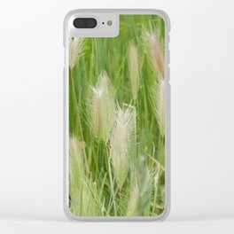 Bristles of Green Clear iPhone Case