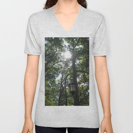 Lamppost, Wellesley College Unisex V-Neck