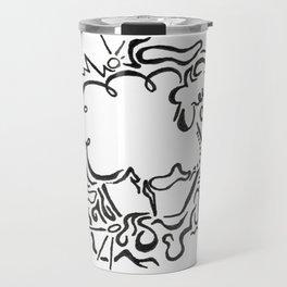 Sheep Lineart Travel Mug