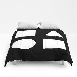 Minimal Shapes White Comforters