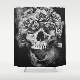 SKULL & ROSES I Shower Curtain