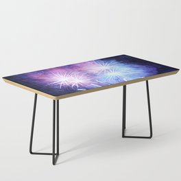 Blue and pink fireworks Coffee Table