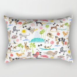 Doggie Days Rectangular Pillow