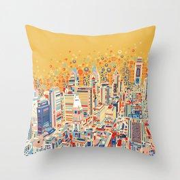 philadelphia city skyline Throw Pillow