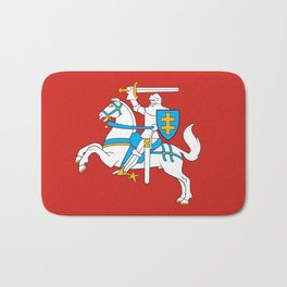 State Flag of Lithuania Knight On Red Bath Mat