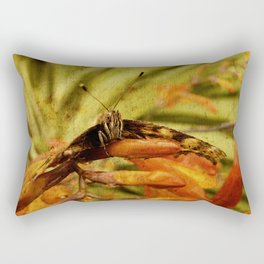 Butterfly on Crosmosia Rectangular Pillow
