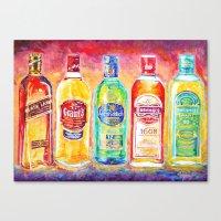 whiskey Canvas Prints featuring Whiskey by LiliyaChernaya