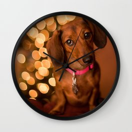 Dachshund Christmas Wall Clock