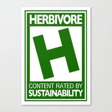 Rated H for Herbivore Canvas Print