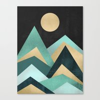 waves Canvas Prints featuring Waves by Elisabeth Fredriksson