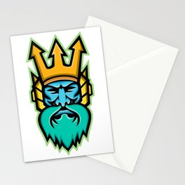 Poseidon Greek God Mascot Stationery Cards