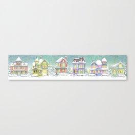 Row of Snow Houses Canvas Print
