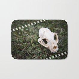Bobcat skull ii Bath Mat