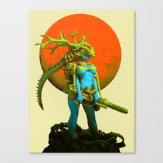 Red moon hunter Canvas Print