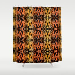 Tiger Style Shower Curtain