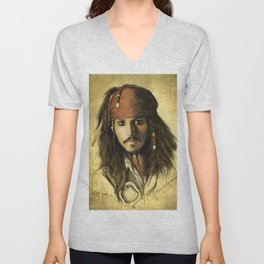 Portrait of a pirate Unisex V-Neck