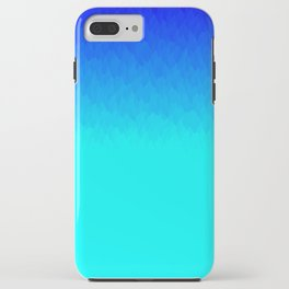 Electric Blue Ombre flames / Light Blue to Dark Blue iPhone Case