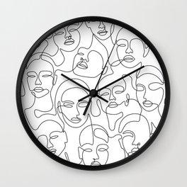 Crowded Girls Wall Clock