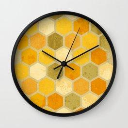 Comb on Bee happy Wall Clock