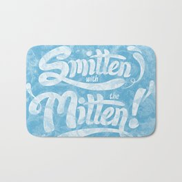 Smitten with the Mitten (Blue Version) Bath Mat