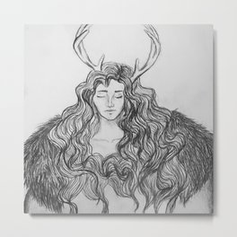 hybrid - deer/human Metal Print