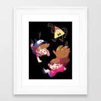 gravity falls Framed Art Prints featuring Gravity Falls by Sharmie