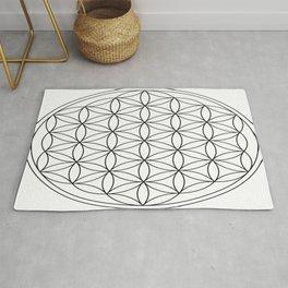 Flower of Life : sacred geometry Rug